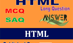 HS Computer Application Study Notes on HTML for Class 12 (WBCHSE)