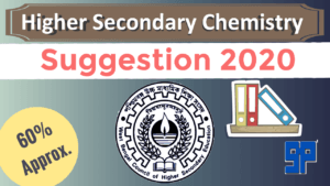HS Chemistry Suggestion 2020