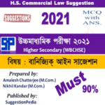 HS Commercial Law Suggestion 2021 Download (WBCHSE) – 90% Must
