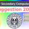 HS Computer Application Suggestion 2020 for Higher Secondary | 95%