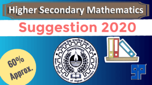 HS Mathematics Suggestion 2020