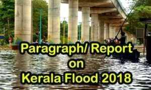 Paragraph on 'Kerala Flood 2018' for Madhyamik | Higher Secondary – 2019