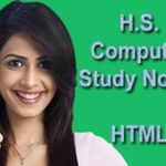 Higher Secondary Modern Computer Application Study Materials on HTML