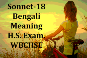 Shall I Compare Thee to a Summer's Day: Bengali Meaning