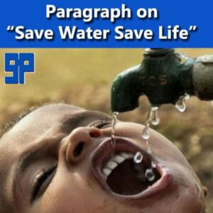 Paragraph on save water save life