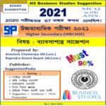HS Business Studies Suggestion 2021 PDF Download – 90% | WBCHSE